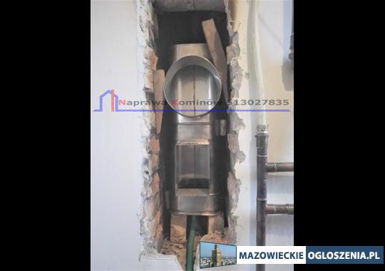 Wkłady kominowe i kominy izolowane kwaso-żaroodporne z montażem